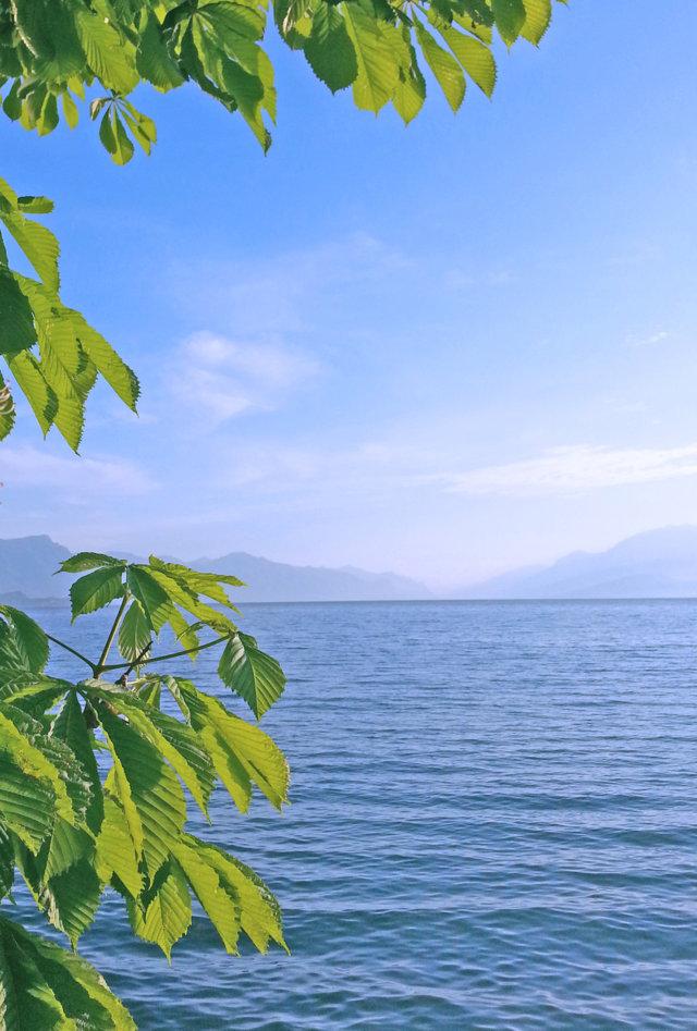 Il suggestivo lago di garda visto dalla terrazza di Cala de Or