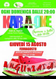 Karaoke Ferragosto - Bar al Parco Pastore - Sole Relax